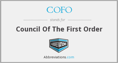 COFO - Council Of The First Order