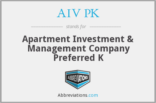 AIV PK - Apartment Investment & Management Company Preferred K