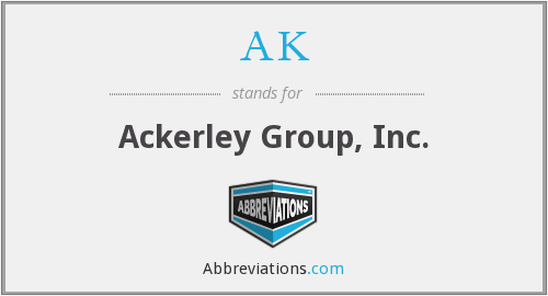 AK - Ackerley Group, Inc.