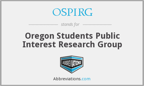 OSPIRG - Oregon Students Public Interest Research Group