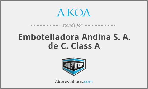 AKOA - Embotelladora Andina S. A. de C. Class A