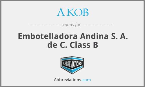 AKOB - Embotelladora Andina S. A. de C. Class B