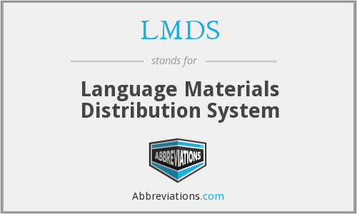 LMDS - Language Materials Distribution System