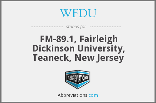 What does WFDU stand for?