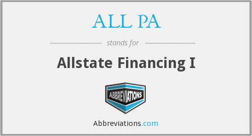 ALL PA - Allstate Financing I