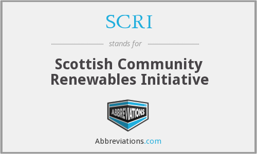 SCRI - Scottish Community Renewables Initiative
