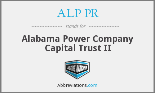 ALP PR - Alabama Power Company Capital Trust II