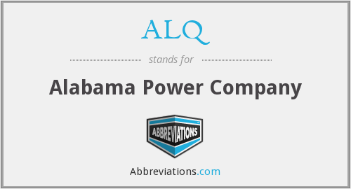 What does ALQ stand for?