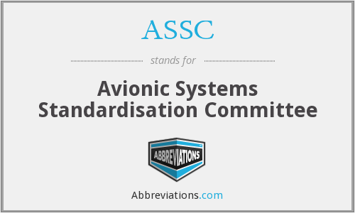 ASSC - Avionic Systems Standardisation Committee