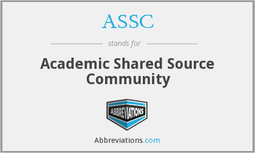 ASSC - Academic Shared Source Community