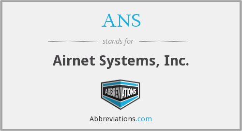 ANS - Airnet Systems, Inc.