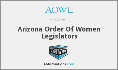 AOWL - Arizona Order Of Women Legislators