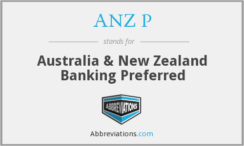 What does ANZ P stand for?