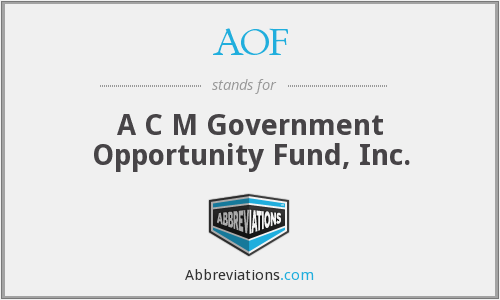 AOF - A C M Government Opportunity Fund, Inc.