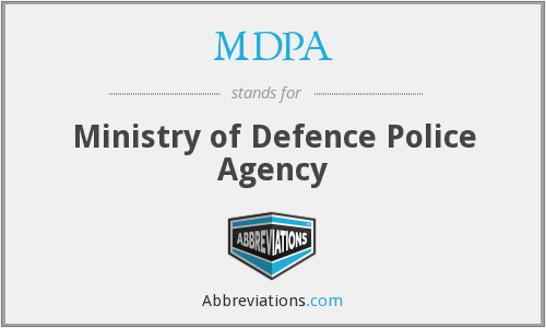 MDPA - Ministry of Defence Police Agency