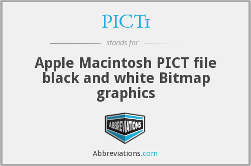 PICT1 - Apple Macintosh PICT file black and white Bitmap graphics