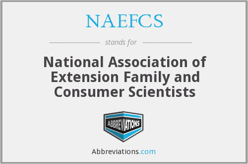 NAEFCS - National Association of Extension Family and Consumer Scientists