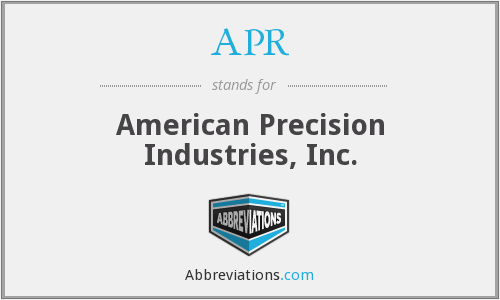 APR - American Precision Industries, Inc.