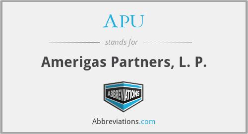 APU - Amerigas Partners, L. P.