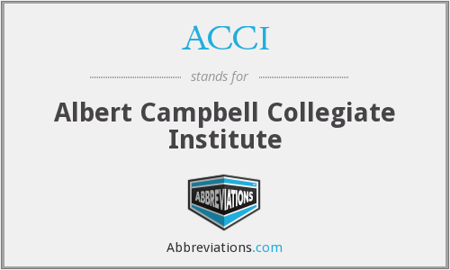 ACCI - Albert Campbell Collegiate Institute