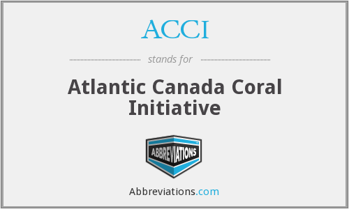 ACCI - Atlantic Canada Coral Initiative