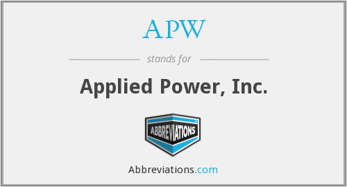 APW - Applied Power, Inc.