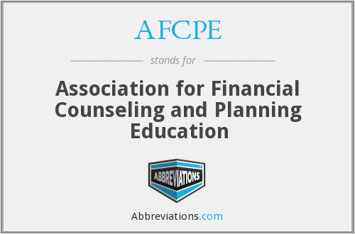 AFCPE - Association for Financial Counseling and Planning Education