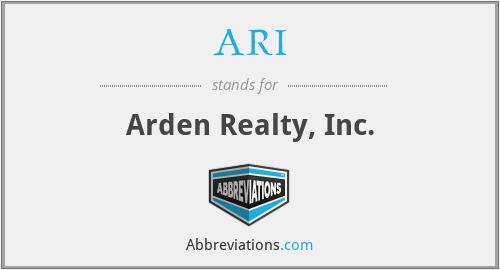ARI - Arden Realty, Inc.