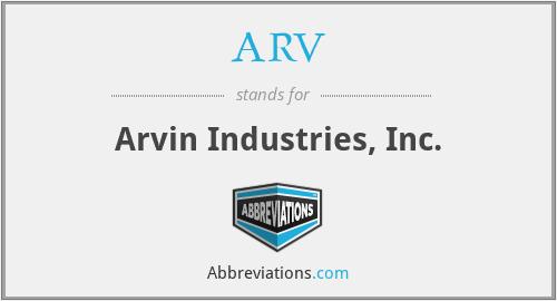 ARV - Arvin Industries, Inc.