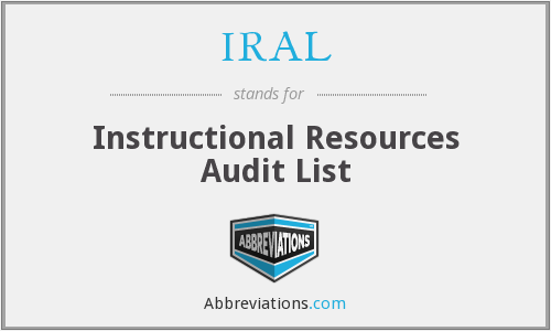 IRAL - Instructional Resources Audit List