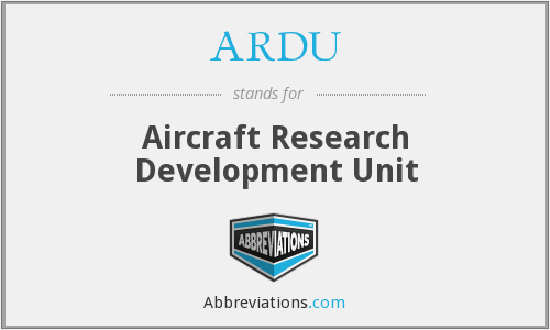 ARDU - Aircraft Research Development Unit