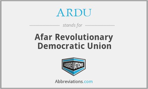 ARDU - Afar Revolutionary Democratic Union