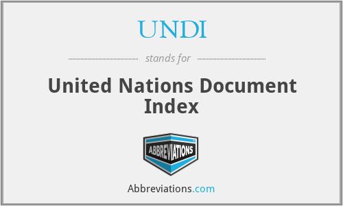 UNDI - United Nations Document Index