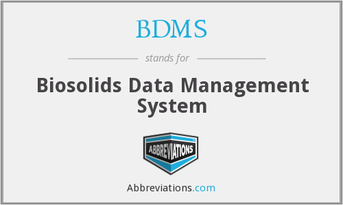 BDMS - Biosolids Data Management System