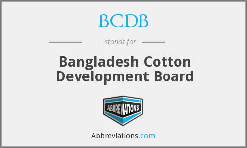 BCDB - Bangladesh Cotton Development Board