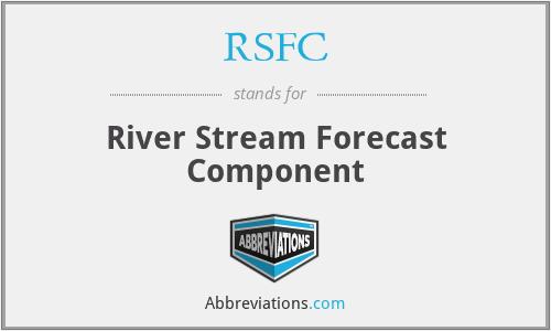 RSFC - River Stream Forecast Component