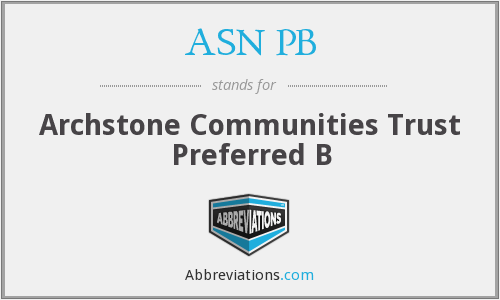 ASN PB - Archstone Communities Trust Preferred B