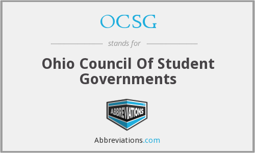 OCSG - Ohio Council Of Student Governments