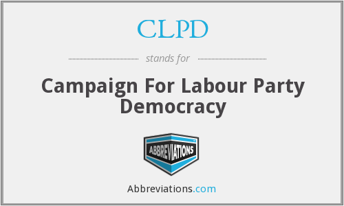 CLPD - Campaign For Labour Party Democracy