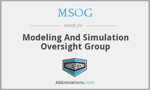 MSOG - Modeling And Simulation Oversight Group