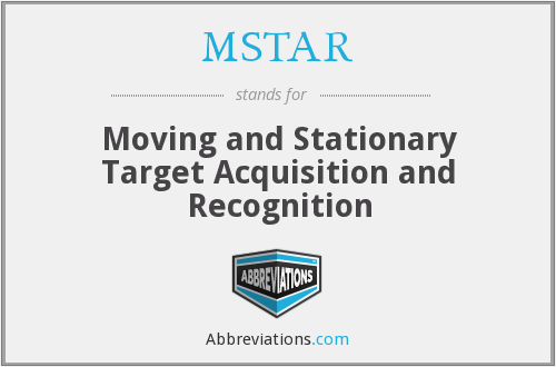 MSTAR - Moving and Stationary Target Acquisition and Recognition