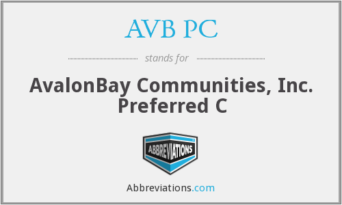 AVB PC - AvalonBay Communities, Inc. Preferred C