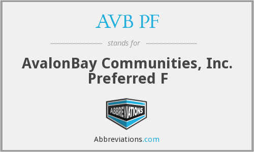 What does AVB PF stand for?