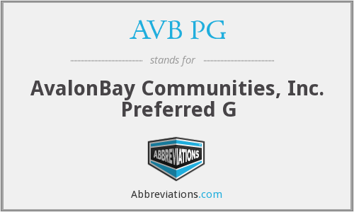 What does AVB PG stand for?