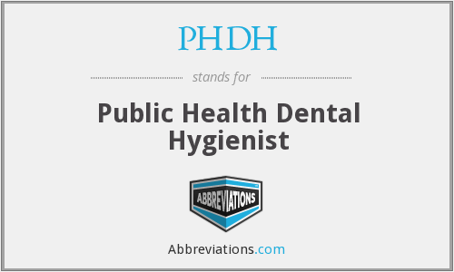PHDH - Public Health Dental Hygienist