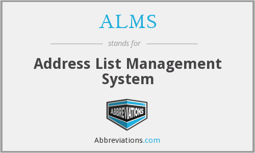 What does ALMS stand for?
