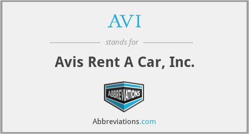 AVI - Avis Rent A Car, Inc.