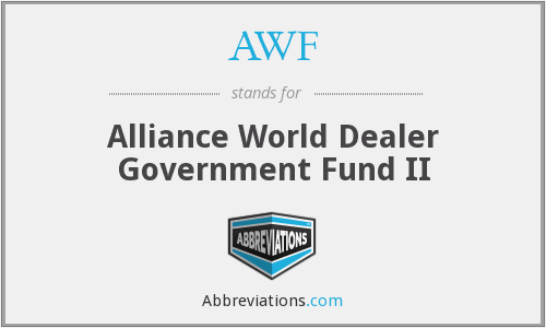 AWF - Alliance World Dealer Government Fund II