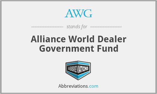AWG - Alliance World Dealer Government Fund