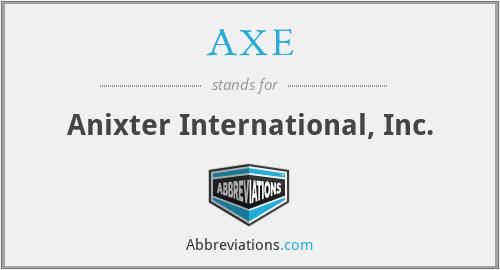 AXE - Anixter International, Inc.